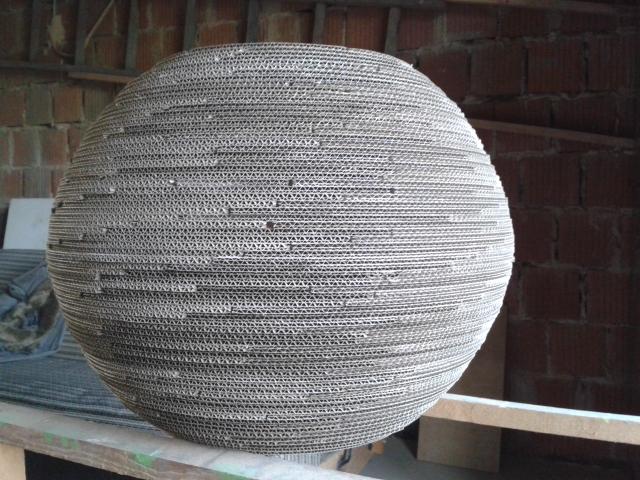 lampa-kula-60-8 - lampa z kartonu