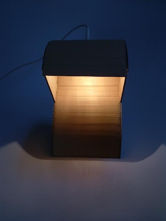 lampa-prototyp-5 - z tektury, z kartonu