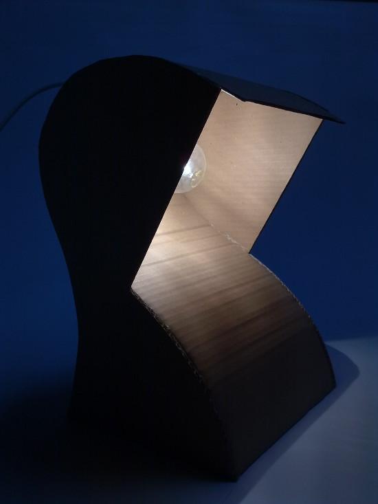 lampa-prototyp-6 - z tektury, z kartonu