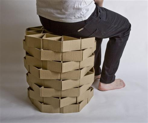 projekty-krzesel-2 - krzesła z kartonu