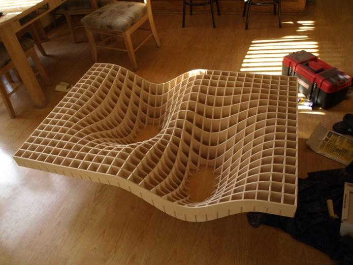 stolik 4 - z kartonu