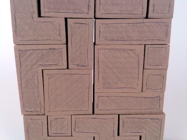 polka z tektury tetris - 4