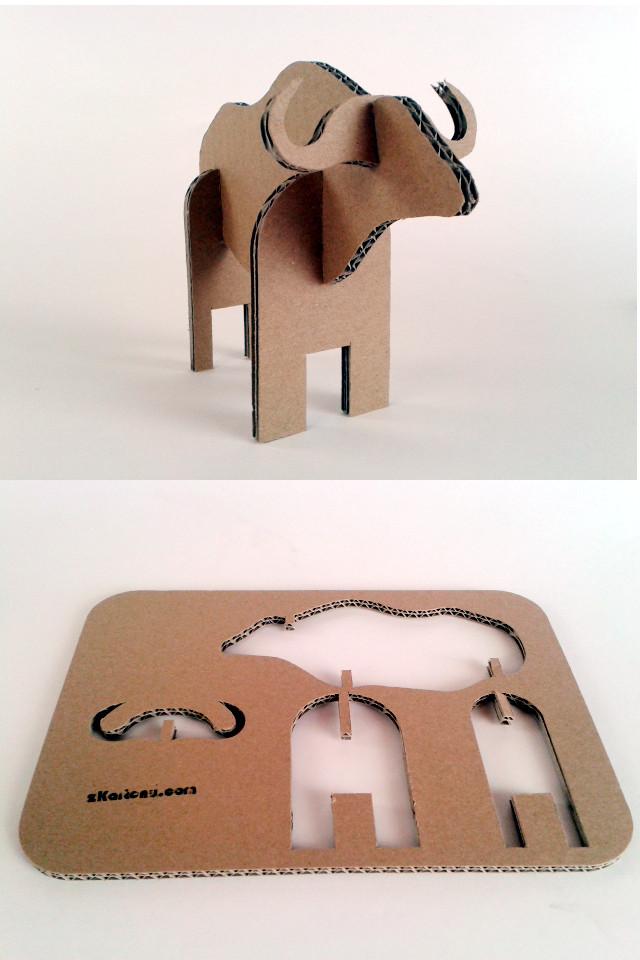 Bawol z kartonu