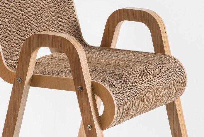 karton plus drewno stołek - 3