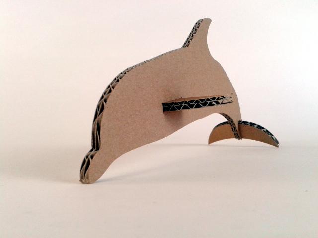 Delfin z kartonu - 4