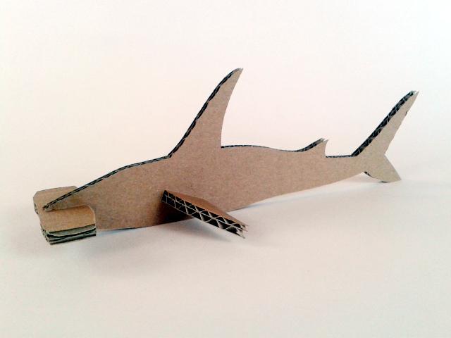rekin z kartonu - 3