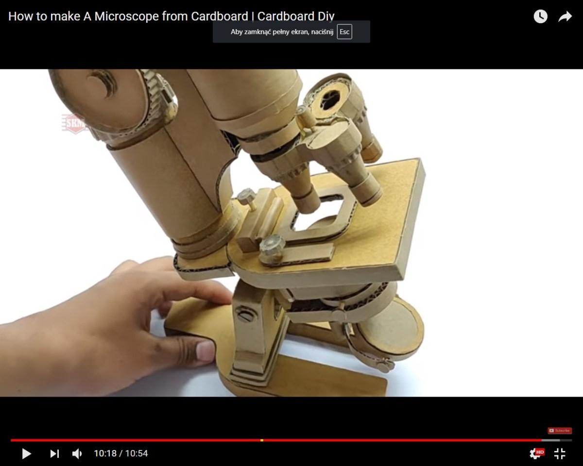 Mikroskop  z kartonu