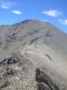 View of the final 30 mins climb