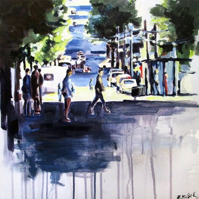 Sunny Street / Sunčana ulica (acrylic on canvas/akril na platnu)
