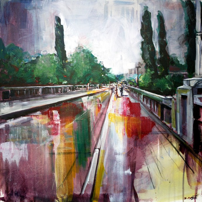 bridge painting, Banja Luka, gradski most