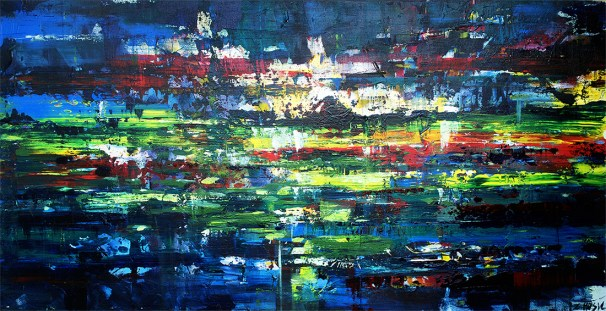 modern abstract landscape painting, Zlatko Music art