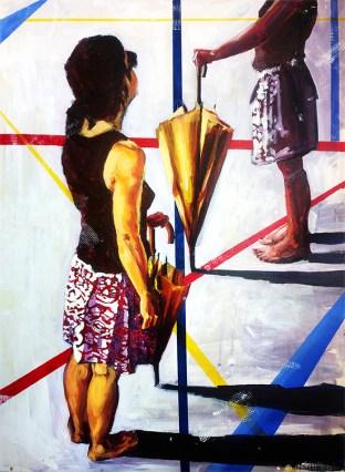 New figure art painting by artist Zlatko Music