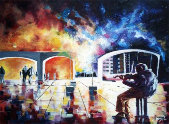 Contemporary modern art painting by Zlatko Music