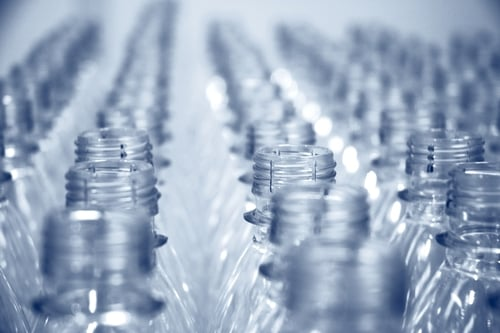 Plastic bottles recycled