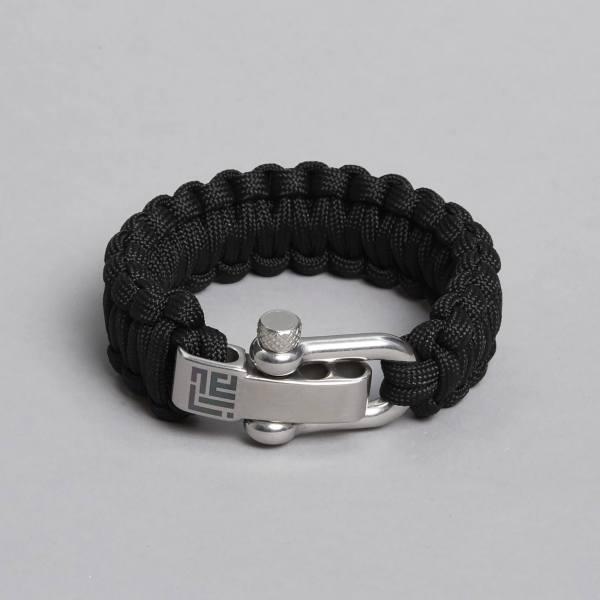 Paracord bracelet by ZLC, Black colour.