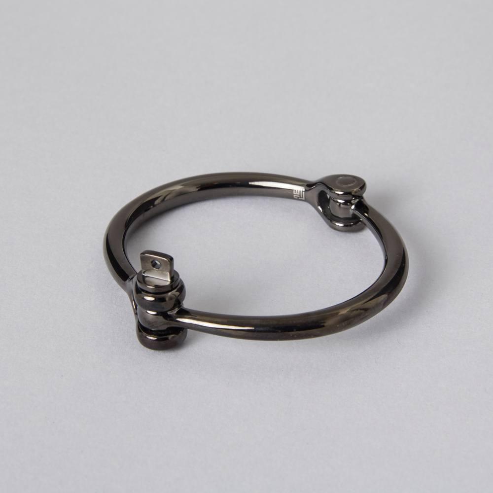 black cuff stainless steel bracelet by ZLCOPENHAGEN Danish Design Handmade