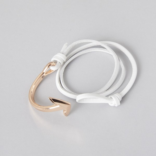 rosa gold leather anchor