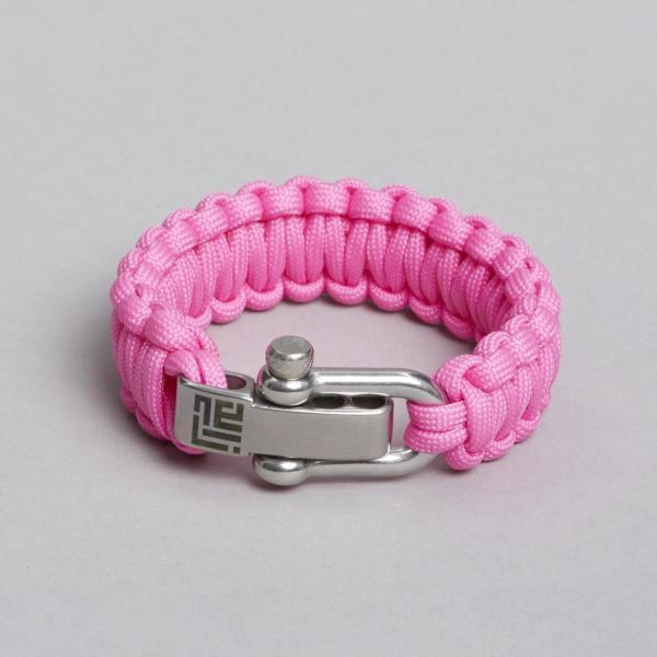 pink paracord armbånd