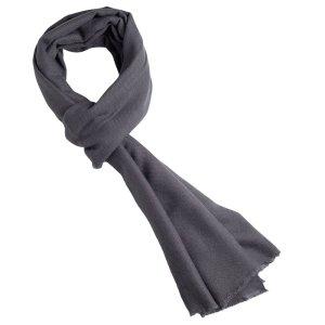 dark grey cashmere scarf
