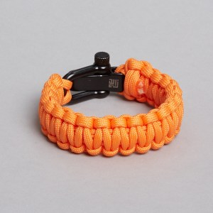 orange black paracord bracelet by ZLC