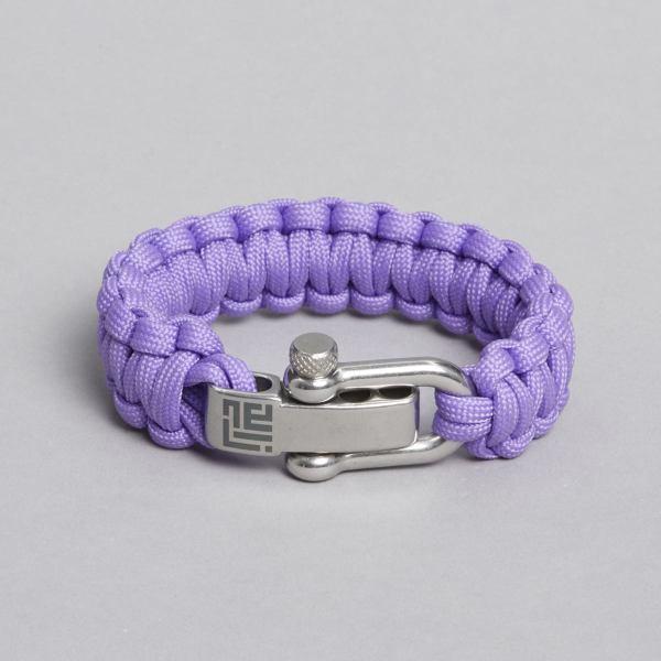 Light Purple paracord bracelet by ZLCOPENHAGEN.