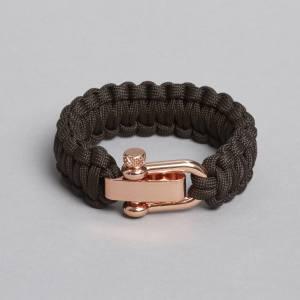 Brown Rose Gold Paracord Bracelet