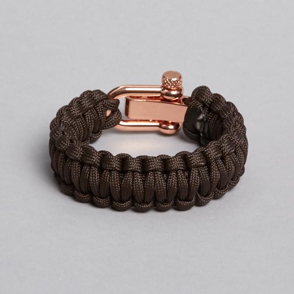 Brown Rasa gold Paracord Bracelet