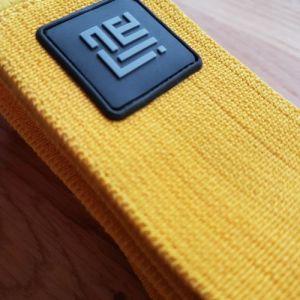 yellow-occlusion-training-band-velcro-closure-kaatsu-bfr-closeup