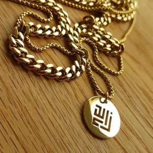 Gold necklace 18K plated by ZLCOPENHAGEN gold chain pendant