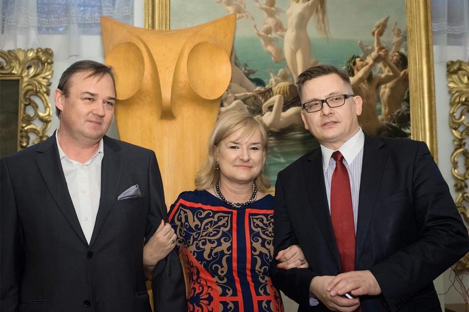 (od lewej) dr Maciej Chlebus, dr Ewa Chlebus, dr Krzysztof Chlebus (2014)