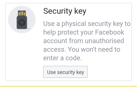 two-factor authentication security key