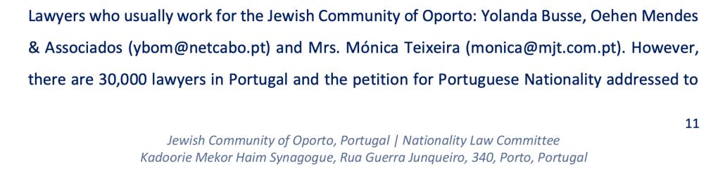 עורכי דין מומלצים לדרכון הפורטוגלי