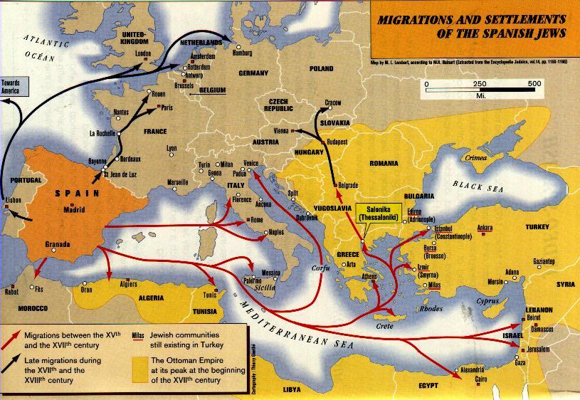 מפת גירוש יהודי ספרד
