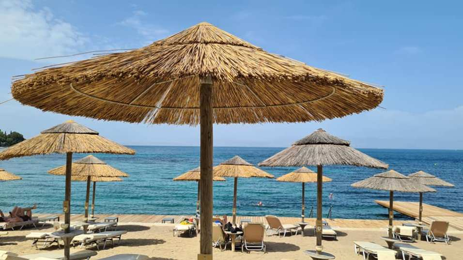 חוף בקורפו. צילום: שלומית מוזס