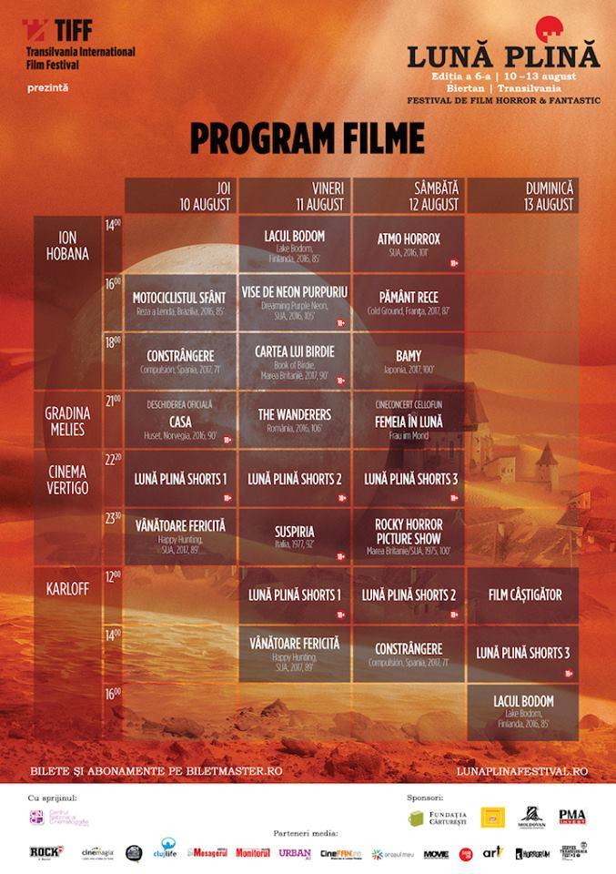 festival luna plina - program 2017