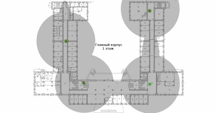 Репитеры помогают развернуть беспроводную сеть в помещениях со сложной планировкой.