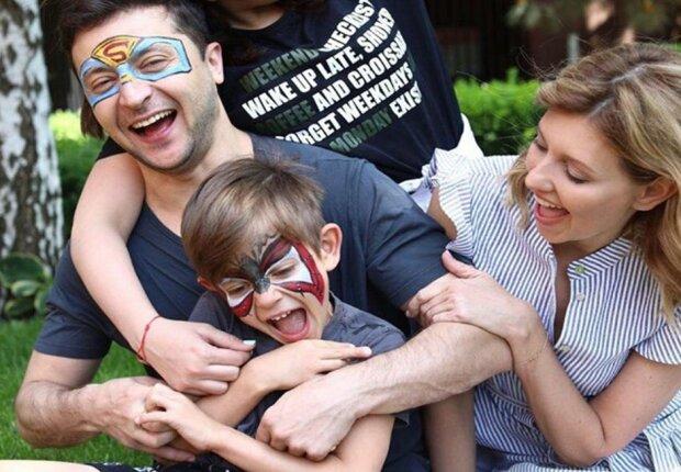 Володимир Зеленський з сім'єю, фото: Instagram