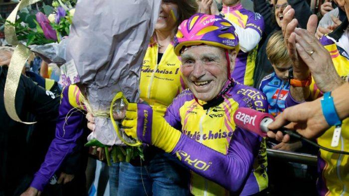 Велорекордсмен в категории «старше 105» Робер Маршан