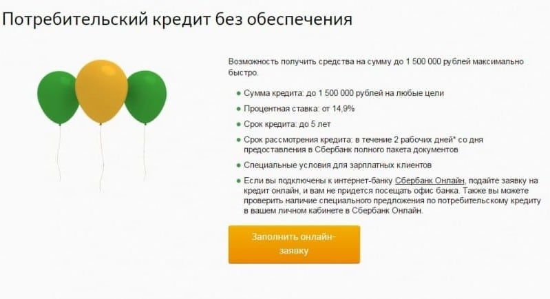 Взять кредит онлайн сбербанк быстро на карту не