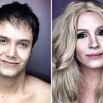 Сила макияжа: парень перевоплощается в звёзд экрана