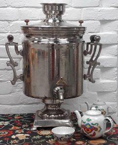 чай в самоваре