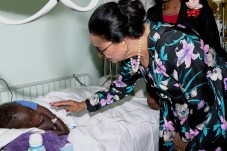 The Governor-General visits children staying in the Children's Ward of the Princes Marguerite Hospital during her Annual Visit.