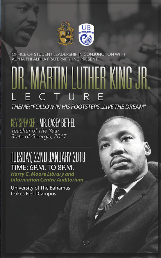 U B Partners with Alpha Phi Alpha Fraternity to Host MLK Lecture