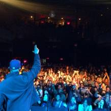 Love to the Brooklyn crowd | Photo by Nick Baglio