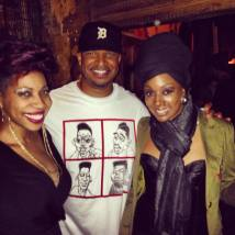 With Carmen Rodgers and Sy Smith after our show in LA