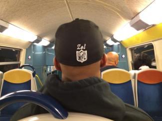 Riding the train in Paris
