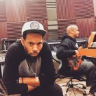 With SaxAppeal in my studio recording for the new Collective Peace album