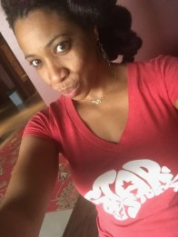 Carmen Rodgers in her 'Star Of The Story' tee