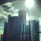 The sun shining on Detroit (June 2013)