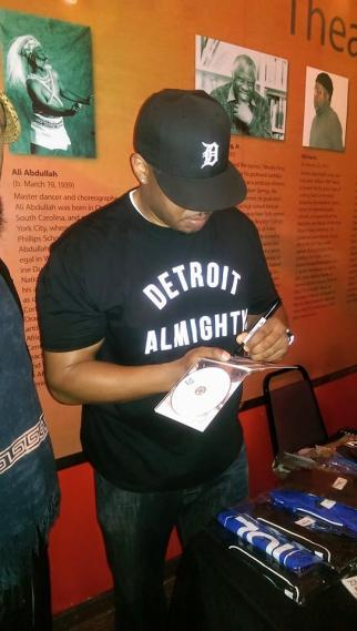 Signing in Detroit